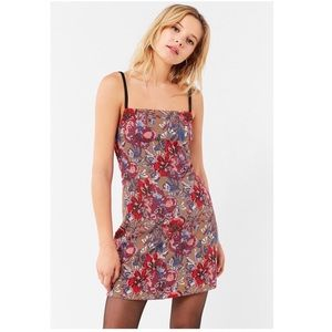 UO Cher Straight-Neck Mini Dress